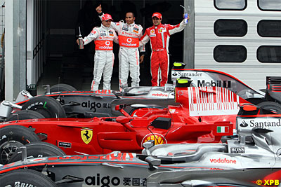 Germany 2008 top three qualifiers