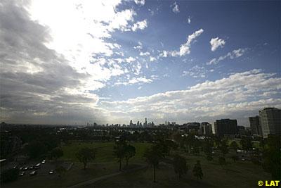 Cloud gave way to sunshine