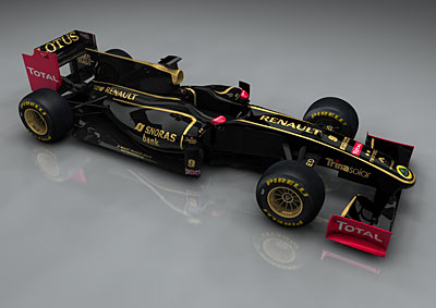 Group Lotus Renault F1 colours